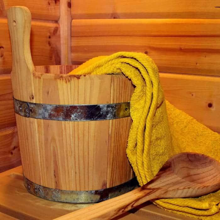 Schwitzen in der Sauna ist gesund